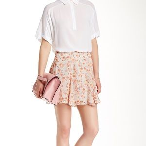 BCBGeneration Floral Mini Skirt